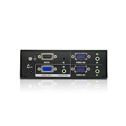 ATEN VS0201, VGA i Audio Preklopnik sa dva izlaza  W/EU ADP