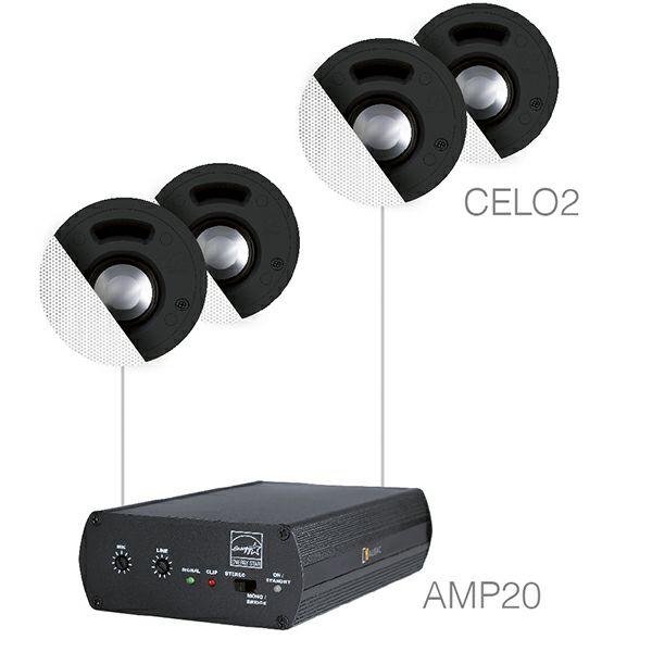 Audio sistem Audac Senso2.4 (Pojačalo AMP20, zvučnici CELO2)